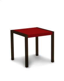 """Textured Bronze & Sunset Red MOD 30"""" Dining Table"""