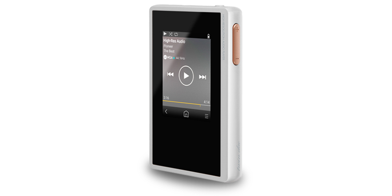 White Digital Audio Player
