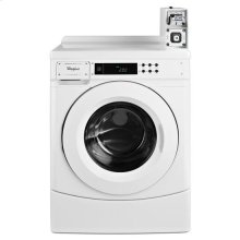 """Whirlpool® 27"""" High-Efficiency Energy Star®-qualified Front-Load Commercial Washer with Factory-Installed Coin Slide and Coin Box - White"""