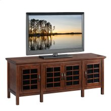 "Chocolate & Black Glass 60"" TV Console #81160"