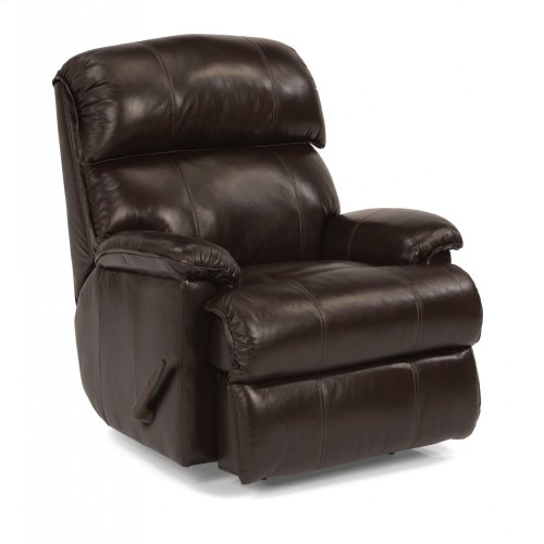 Geneva Leather Swivel Gliding Recliner
