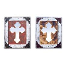 White Cross Mirror