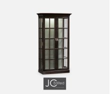 Plank Dark Ale Fully Glazed Bookcase with Strap Handles
