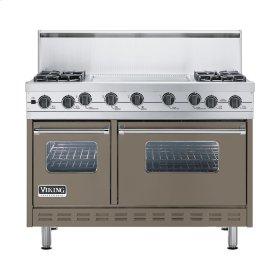 "Stone Gray 48"" Sealed Burner Self-Cleaning Range - VGSC (48"" wide, four burners & 24"" wide griddle/simmer plate)"