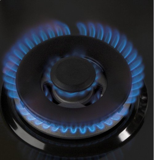 "GE Profile Series 30"" Slide-In Front Control Gas Range"