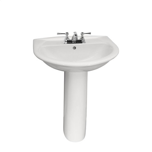 Karla 605 Pedestal Lavatory - White