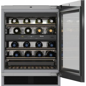 MieleKWT 6322 UG Built-under wine storage unit with FlexiFrame and Push2open for greater versatility and top-quality design.