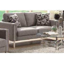 Stellan Contemporary Grey Loveseat