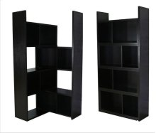 - Five tier extendable bookcase finished in cappuccino - Constructed with MDF, particle board, and engineered veneer- Extend and rotate to accommodate your needs- Also available in light walnut (#801811)