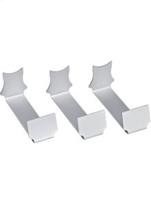 Presenters in aluminium for single bottle display (set of 3) for RW 464.