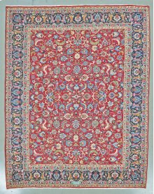 """PERSIAN 000056940 IN RED BLUE 10'-1"""" x 12'-7"""""""
