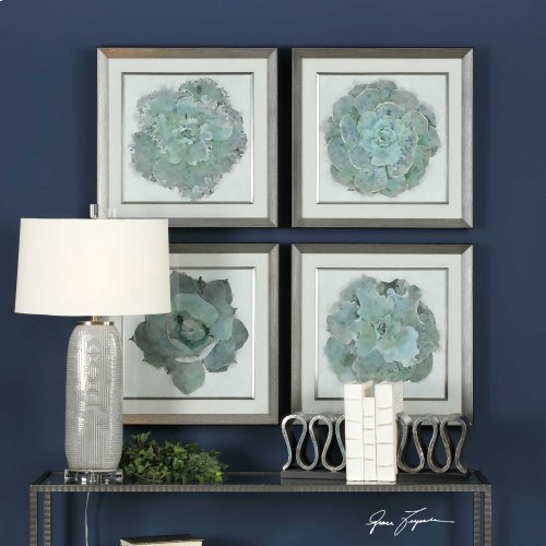 Natural Beauties Framed Prints, S/4