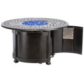 """Lisbon 44"""" Round Gas Fire Pit Chat Table w/ burner"""