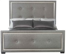 Queen-Sized Decorage Upholstered Panel Queen Bed in Silver Mist (380)