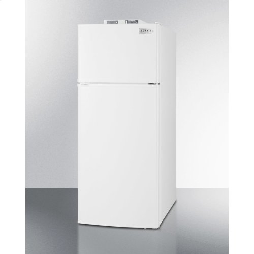 Frost-free Break Room Refrigerator-freezer In White With Nist Calibrated Alarm/thermometers