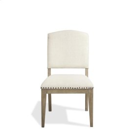 Myra Upholstered Side Chair Natural finish