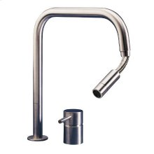 2 hole mixer with pull-out hand shower