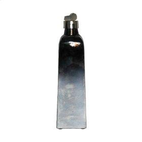 Dark Ombre Glass Jar W/ Stone Lid