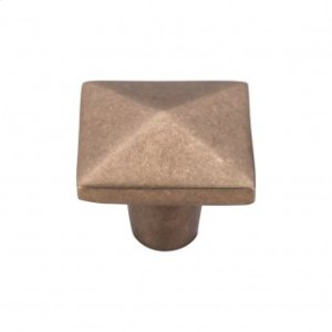 Aspen Square Knob 1 1/2 Inch - Light Bronze