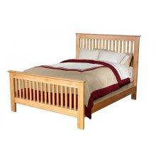Queen Solid Alder Slat Bed