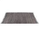 Grey Leather Chindi 5'x8' Rug (Each One Will Vary) Product Image