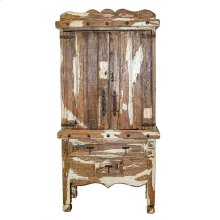 Antique White Armoire