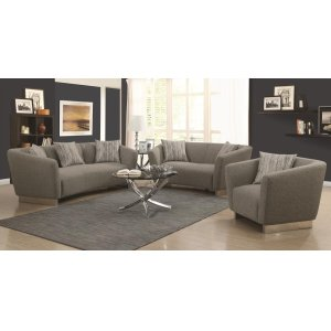 Grayson Contemporary Grey Two-piece Living Room Set