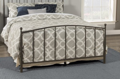Warwick Full Bed Set With Rails (gray Bronze)