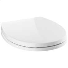 White Round Front Slow-Close Toilet Seat