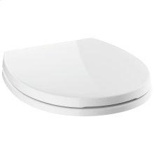 White Round Front Slow-Close Toilet Seat