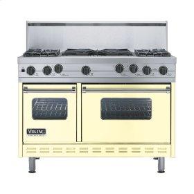 """Lemonade 48"""" Sealed Burner Self-Cleaning Range - VGSC (48"""" wide, four burners & 24"""" wide wok/cooker)"""