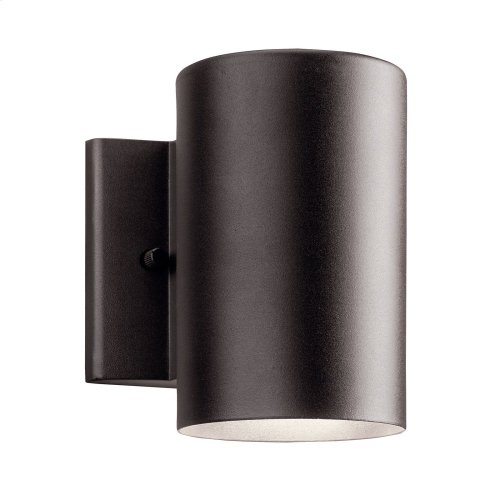 """Cylinder 3000K LED 7"""" Wall Light Textured Architectural Bronze"""