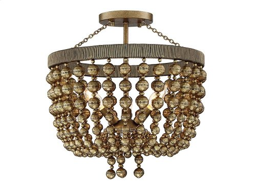 Cranford 3 Light Semi Flush