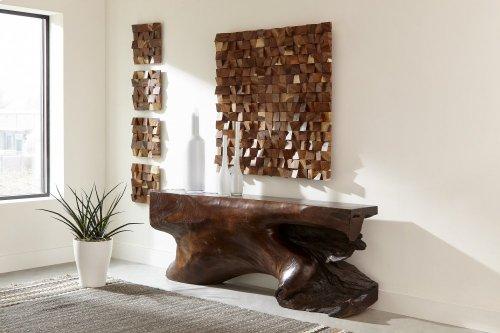Wood Blocks Wall Panel, Natural , LG