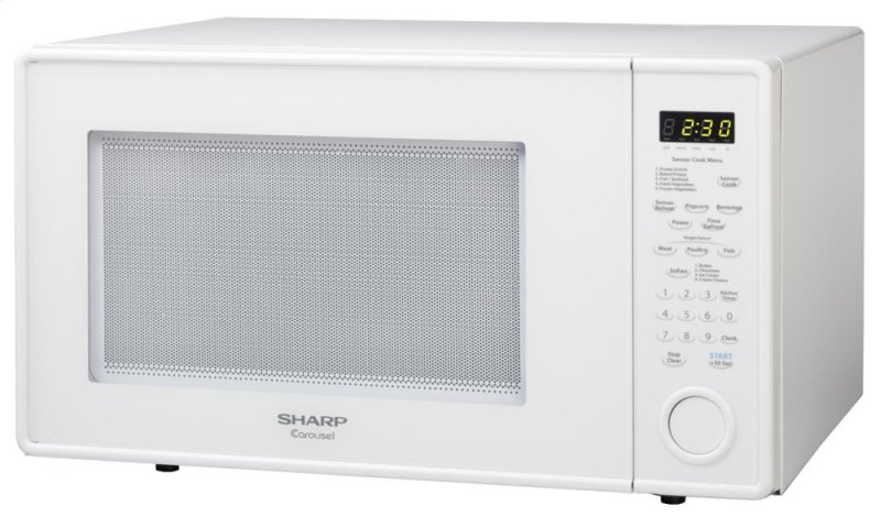 Hidden Additional 1 8 Cu Ft 1100w Sharp White Carousel Countertop Microwave Oven R