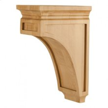 "5"" x 8"" x 12"" Mission Style Corbel, Species: Rubberwood"