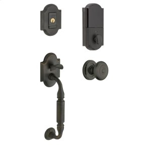 Distressed Oil-Rubbed Bronze Evolved Canterbury Knob Sectional Handleset