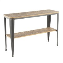 Oregon Console Table - Matte Grey Metal, Bamboo