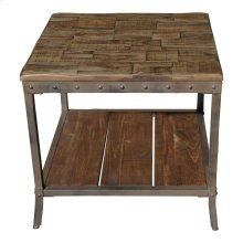 Trenton Accent Table in Distressed Pine