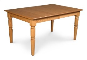 Farm-Turned Leg Table, Solid Top