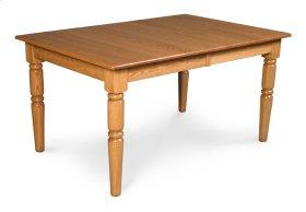"Farm-Turned Leg Table, 24"" Butterfly Leaf"
