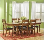 Plantation Dining-to-counter Height Table With Six Ladderback Chairs Product Image