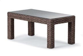 """22"""" x 42"""" Coffee Table w/ Tempered Glass Overlay"""