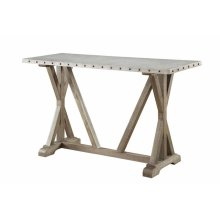 Industrial Driftwood Sofa Table