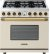 Additional Range DECO 36'' Classic Cream matte, Bronze 6 gas, electric oven, self-clean
