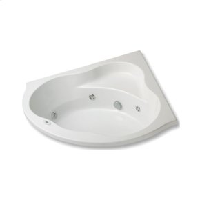 "Easy-Clean High Gloss Acrylic Surface, Corner, MicroSilk® - Whirlpool Bathtub, Premiere Package, 60"" X 60"""