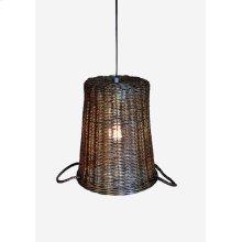 (LS) Round Basket Shape Pendant - 1 light bulb (12X12X15)