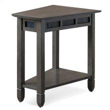 Smoke Grey Oak and Black Slate Recliner Wedge Table #10056-GR