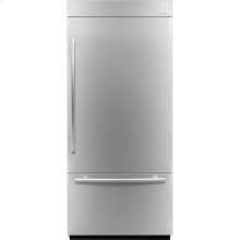 36-inch Stainless Steel Panel Kit for Fully Integrated Built-In Bottom-Freezer Refrigerator, Euro-Style Stainless Handle