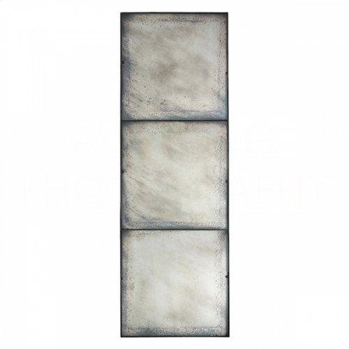 Three Panel Large Antiqued Mirror